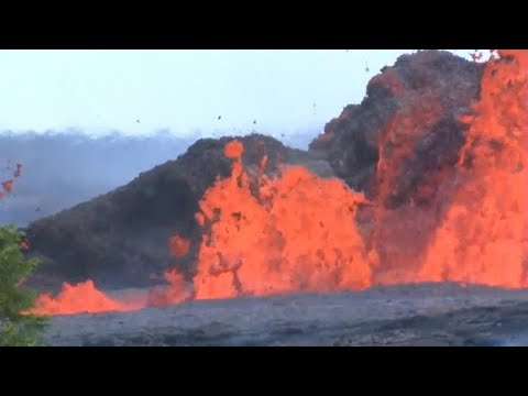 Lava from Hawaii's Kilauea volcano reaches ocean, creating new health threat