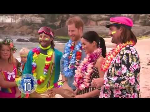 Prince Harry & Meghan Markle Visit Sydney's Bondi Beach  Studio 10