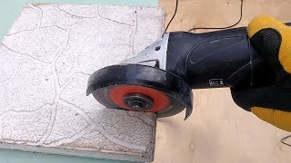 Обзор алмазных дисков по плитке и бетону. Резка керамической и тротуарной плитки болгаркой