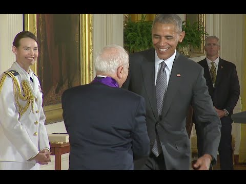 Mel Brooks' Funny Schtick As He Is Awarded Arts Medal
