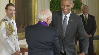 Mel Brooks Funny Schtick As He Is Awarded Arts Medal
