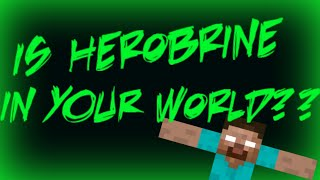 Ways to Tell Herobrine is in Your World! (1.8.1) SIGNS OF HEROBRINE