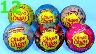 12 surprise eggs Chupa Chups Maya the Bee MONSTER HIGH Tatty Teddy SUPERMAN Disney PRINCESS for baby