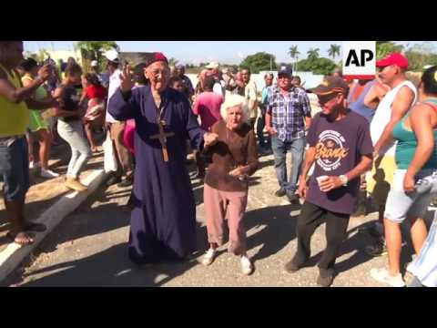 Mock funeral celebrated in Cuban village