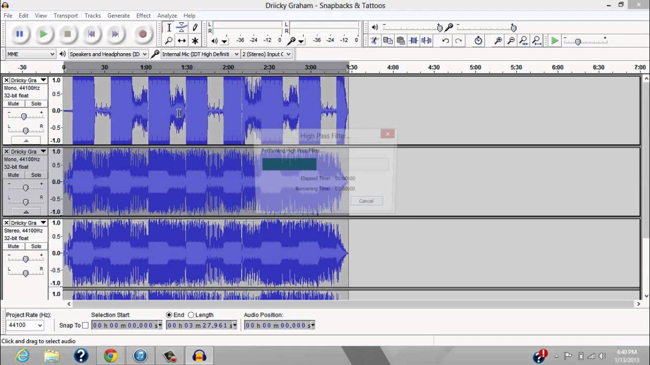 How To Bass Boost on Audacity 2.0.2 - YouTube
