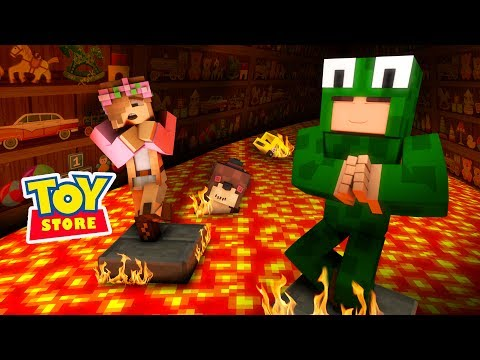 THE FLOOR IS LAVA CHALLENGE - TOY STORE w/ Little Kelly Minecraft