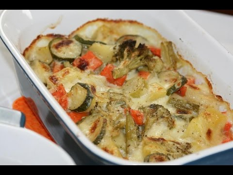 gratin-de-légumes-&-béchamel---vegetable-casserole-dish-with-bechamel---كراتان-الخضرو-بيشاميل-لذيذ