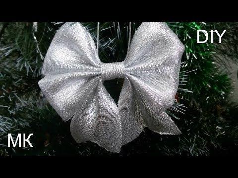 Как сделать банты на елку своими руками