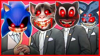 Sonic.EXE Megamix & Talking Tom.EXE & Cartoon Cat.EXE  Meme Coffin Dance COVER