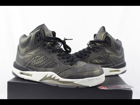 "official photos a63ff bf176 Air Jordan 5 Heiress ""Metallic Camo"" Unboxing Review From www.ajking.ru"