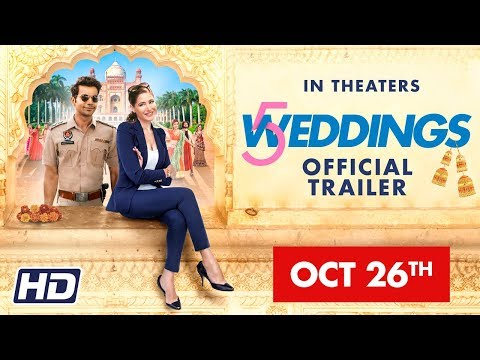 '5 Weddings' | 26 OCT |  Nargis Fakhri, Rajkummar Rao, Bo Derek, Candy Clark