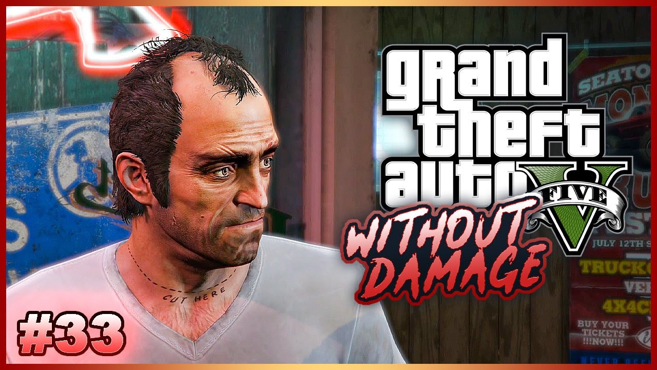 Completing GTA V Without Taking Damage? - No Hit Run Attempts (One Hit KO) #33