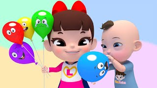 Learn Color with SFinger Family Song  핑거패밀리 색깔 풍선 노래 영어동요 Nursery rhymes 라임이와 영어 공부 해요!