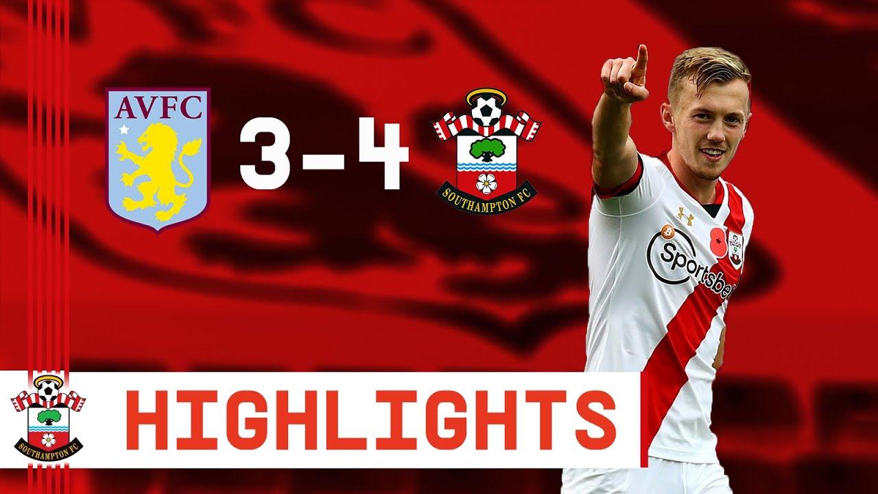 90-SECOND HIGHLIGHTS: Aston Villa 3-4 Southampton | Premier League