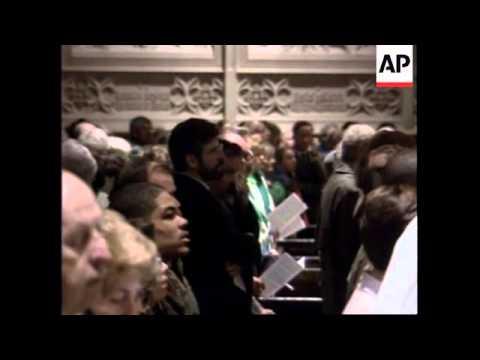 USA: SINN FEIN LEADER GERRY ADAMS AT ST PATRICK'S DAY PARADE