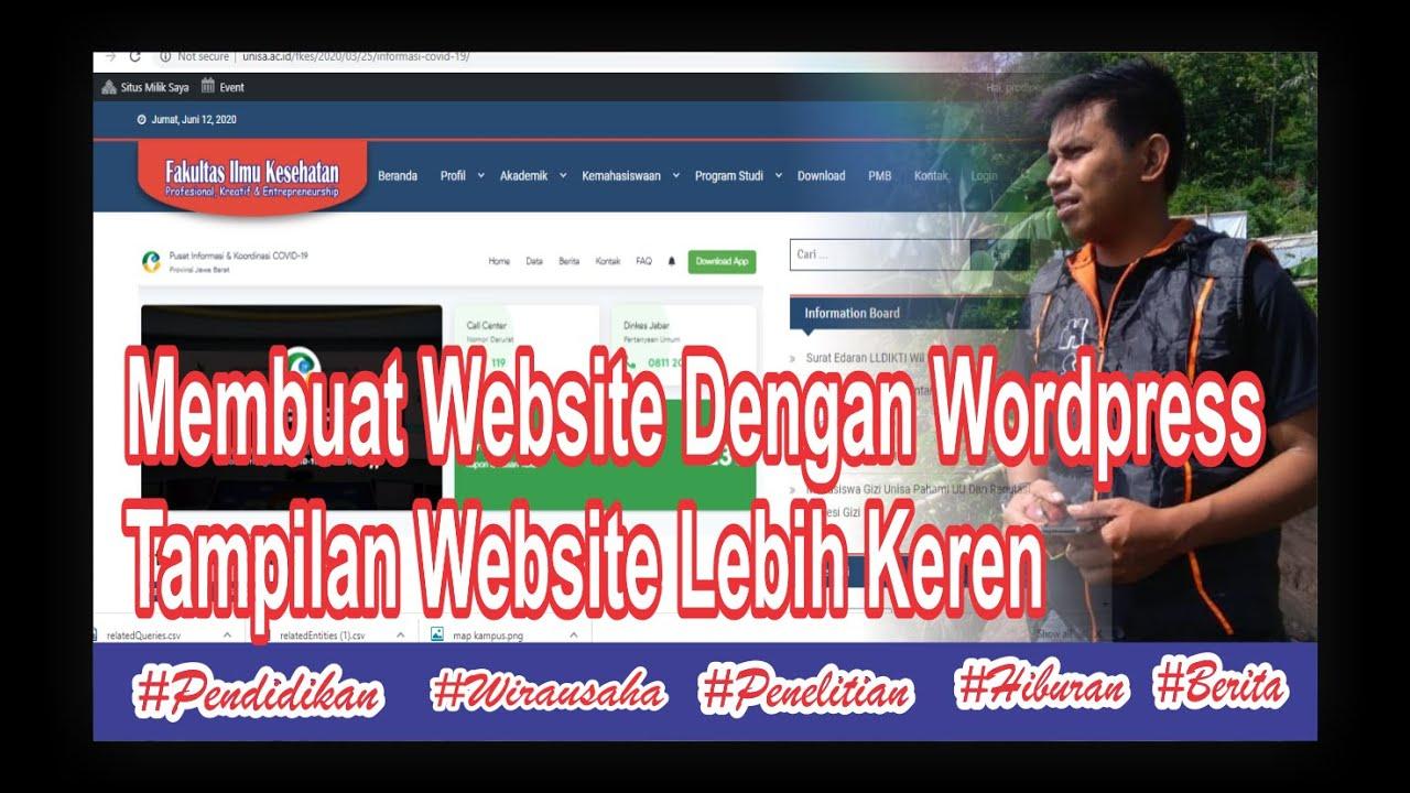 Cara Membuat Website Dengan Wordpress // Membuat Tampilan Website Keren|| Pendidikan Teknik ...