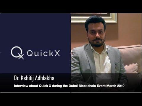 Interview mit QuickX COO Dr. Kshitij Adhlakha in Dubai März 2019 Deutscher Untertitel