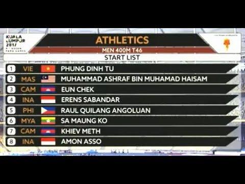 Athletics Men 400M T46 | 9th Asean Para Games 2017