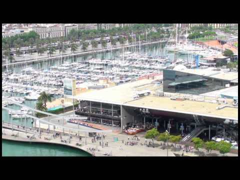 BARCAM11 - BARCELONA'S PORT VELL WATERFRONT ROCKS in 1080p HD