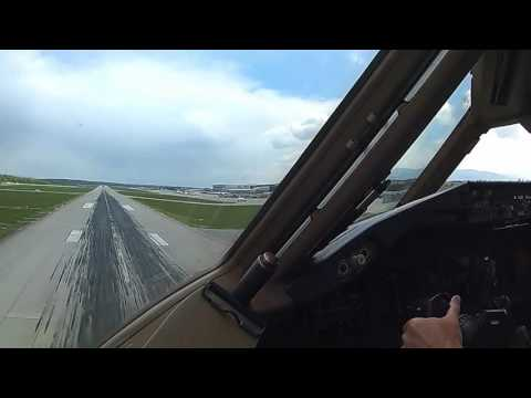 Boeing 777-200 Approach, Landing, and Taxi to Parking at Geneva, Switzerland