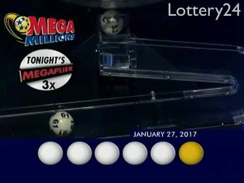 2017 01 27 Mega Millions Numbers and draw results