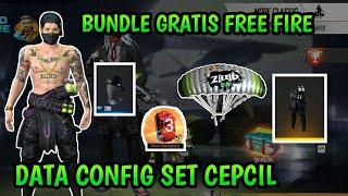 SKIN GRATIS FREE FIRE❗DATA CONFIG SET BUNDLE CEPCIL