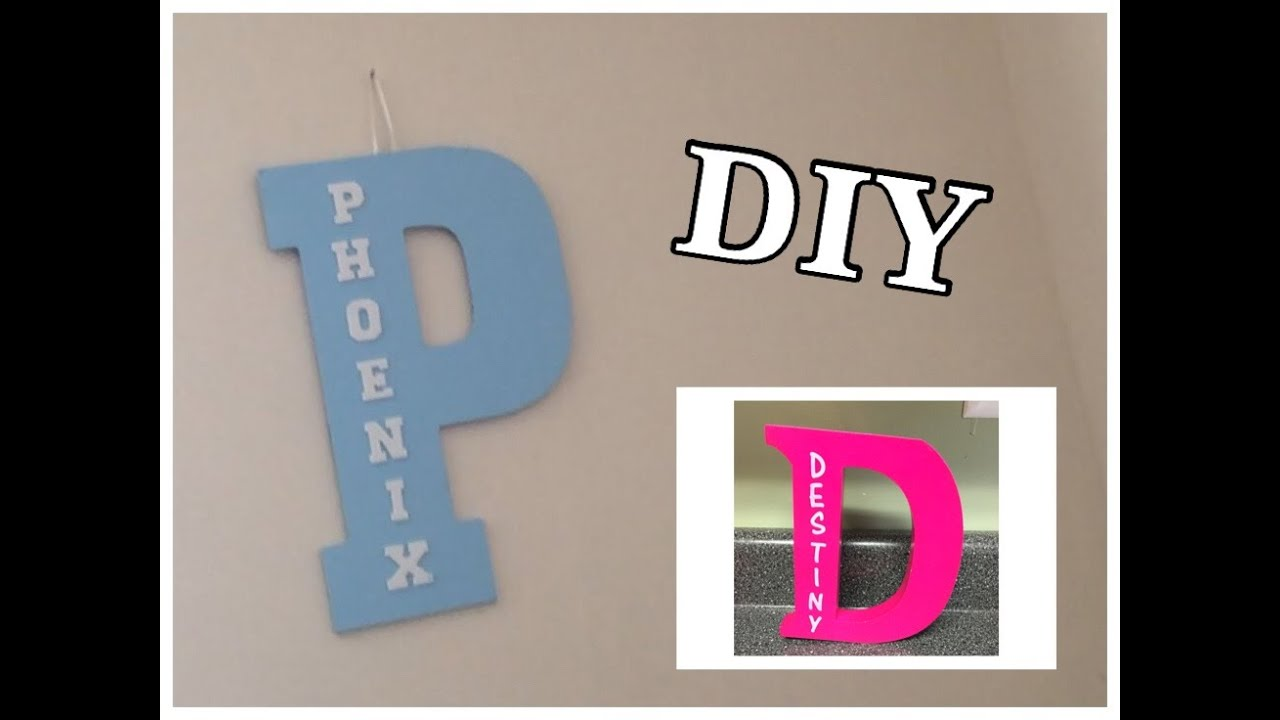 diy personalized letters kids room decor