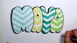 How to Draw Bubble Letters - Maya in Graffiti Letters MLT