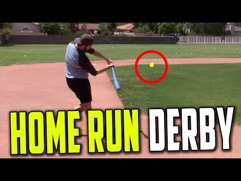 BLITZBALL WIFFLE BALL HOME RUN DERBY! *CRAZY FINISH*