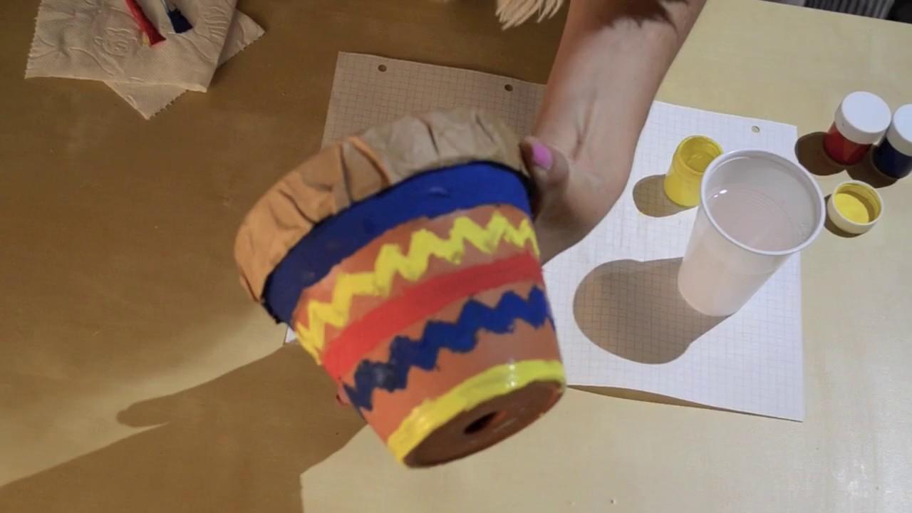 Gut gemocht Trommel aus Blumentopf basteln- Kimmy´s Kinderkanal - YouTube TX61