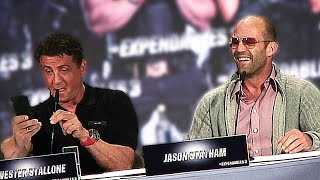 EXPENDABLES 3 funny German Press conference Sylvester Stallone