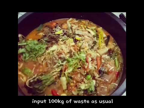 Food waste disposal machine Zero 100 Test Video