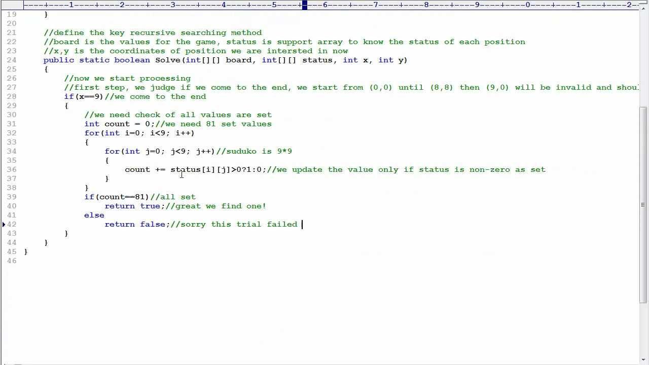Programming Interview 30: Write a Sudoku solver