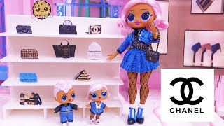 Shopping At CHANEL for Luxury Handbag - OMG LOL Surprise Big Sister + Brother