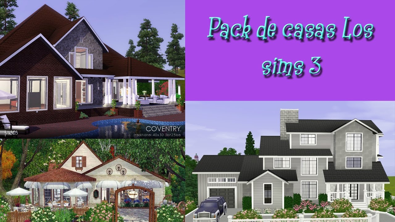 Los sims 3 descargar pack de casas youtube for Casa moderna los sims 3