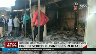 Traders of Kamukunji market in Kitale suffer losses as blaze destroys premises