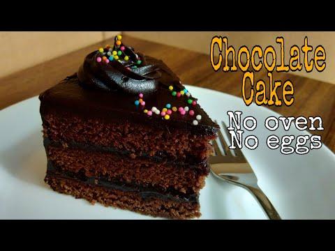 Eggless Chocolate Truffle Cake In Cooker   Cake Recipe   No Whipped Cream  Easy Rich Birthday Cake