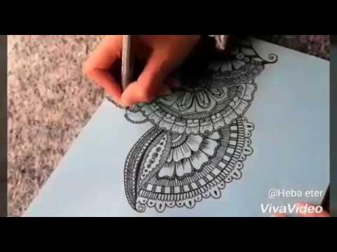 رسم نقوش الماندالا | mandala art - Видео онлайн