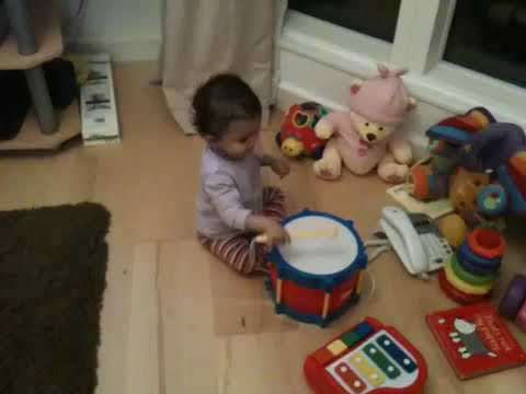 Tia's first birthday gifts- musical instruments