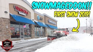 "RECORD BREAKING SNOW FALL?! ► 9"" OF HEAVY WET SNOW!"