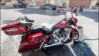 I WON A HARLEY ROAD KING FROM COPART