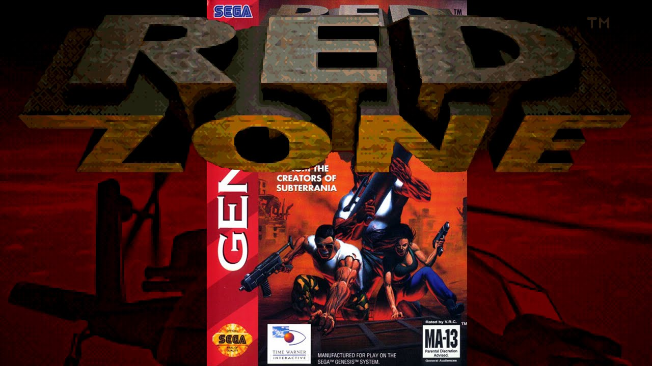 red zone 1994 sega genesis intro gameplay xbrz 720p youtube