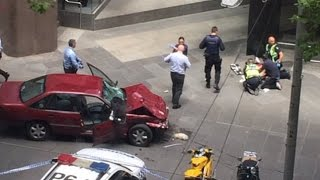 Three dead, several hurt after car hits pedestrians in Melbourne