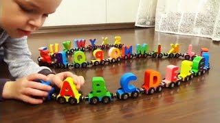 Учим буквы Английского языка с паровозом Буквы от A до Z