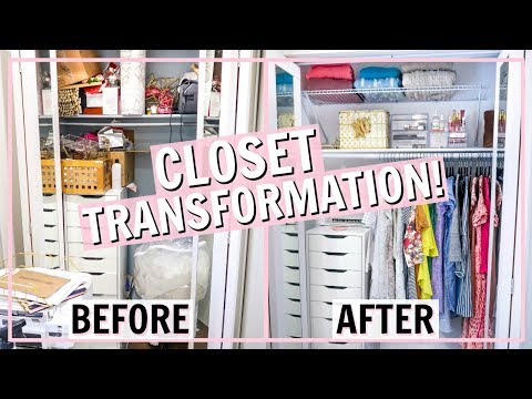 DECLUTTERING MY CLOSET! EXTREME BEFORE AND AFTER! | Alexandra Beuter