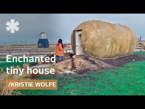 Kristie Wolfe's fairytale tiny house: giant potato + silo conversion