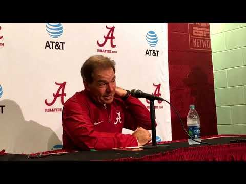 Alabama coach Nick Saban -- postgame Mississippi State