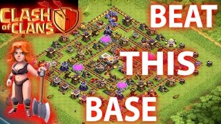 Clash Of Clans - How To Beat the Circle & Square Base -th10 & th11 3 star Attack Strategy 2016