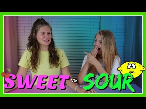 SWEET VS SOUR CANDY CHALLENGE || FUNNY SWITCH UP CHALLENGE || Taylor and Vanessa