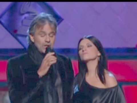 Laura Pausini y Andrea Bocelli